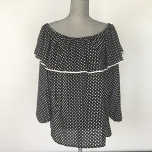 NWT Vince Camino Black/White Blouse